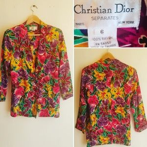 Vintage Christian Dior Floral Blazer